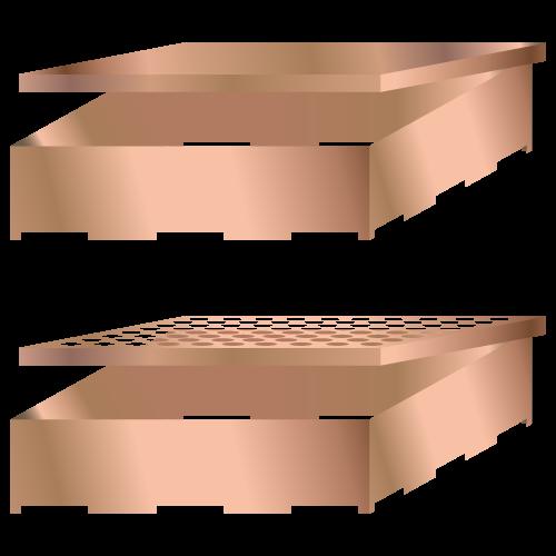 Fast PCB afskærmning dåser med aftageligt låg