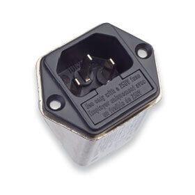 Strømforsyningsfilter med 2 sikringer