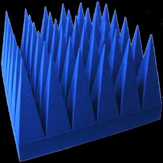 Bredbånd hybrid pyramidale absorbere